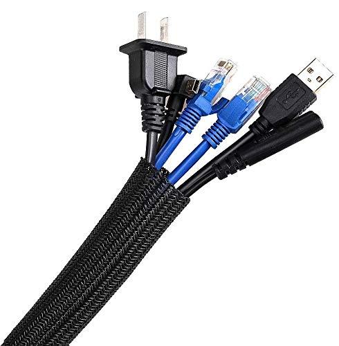 AGPTEK Kabelkanal, selbstschließend Kabelschlauch, gewebter...