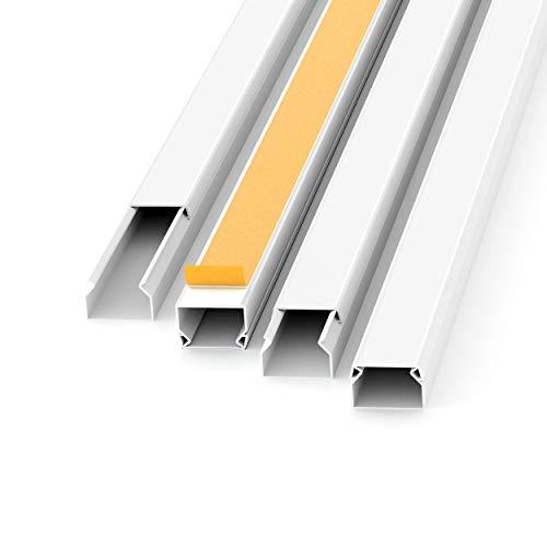 Kabelkanal Selbstklebend Weiss 1m (10 Stk. - 15x10 mm klein) -...