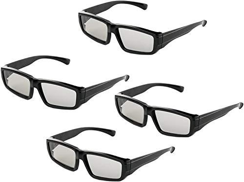 4er Pack Unisex Passive Polarisierte 3D-Brille für LG, Sony,...