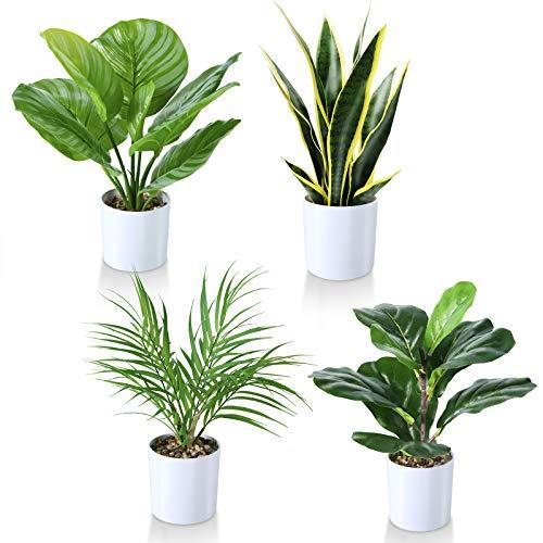 Kazeila Kunstpflanzen 40cm Geigenblattfeige/ Schlangenpflanze /...