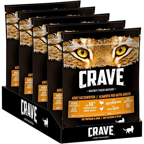 CRAVE Premium Trockenfutter mit Truthahn & Huhn für Katzen –...