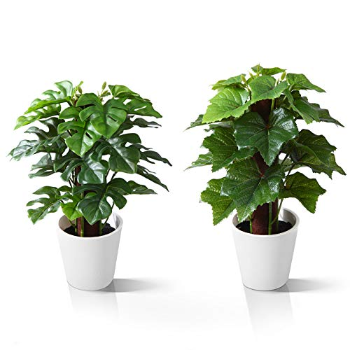 Kazeila Mini Indoor-Topfpflanzen,24 cm Kunstplastik-Kunstpflanze...