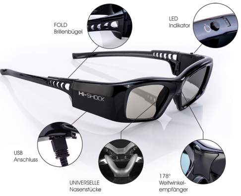 3D-Brille Bluetooth